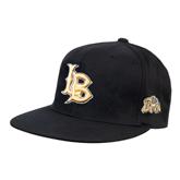 Black OttoFlex Flat Bill Pro Style Hat-Interlocking LB