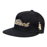 Black OttoFlex Flat Bill Pro Style Hat-The Beach