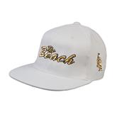 White OttoFlex Flat Bill Pro Style Hat-The Beach
