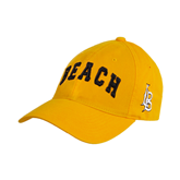 Gold Twill Unstructured Low Profile Hat-Arched Beach