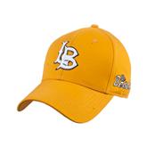 Gold Heavyweight Twill Pro Style Hat-Interlocking LB