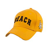Gold Heavyweight Twill Pro Style Hat-Arched Beach