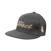 Charcoal Flexfit Flat Bill Pro Style Hat-The Beach