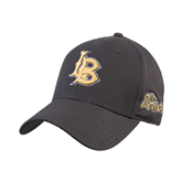 Charcoal Heavyweight Twill Pro Style Hat-Interlocking LB