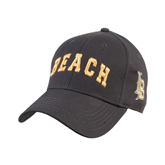 Charcoal Heavyweight Twill Pro Style Hat-Arched Beach