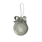 Silver Bulb Ornament-Interlocking LB Engraved