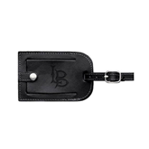 Millennium Leather Luggage Tag-Interlocking LB Engraved