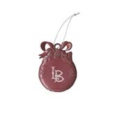 Pink Bulb Ornament-Interlocking LB Engraved
