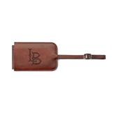Fabrizio Brown Luggage Tag-Interlocking LB Engraved