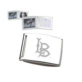 Silver Bifold Frame w/Calendar-Interlocking LB Engraved