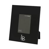 Black Metal 5 x 7 Photo Frame-Interlocking LB Engraved