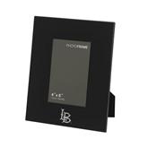 Black Metal 4 x 6 Photo Frame-Interlocking LB Engraved