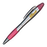 Silver/Pink Blossom Pen/Highlighter-The Beach