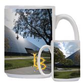 Full Color White Mug 15oz-Long Beach State Gymnasium