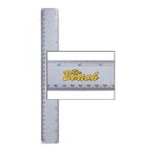 12 Inch White Plastic Ruler-The Beach