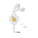 White Retractable Ear Buds-Interlocking LB