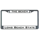 Metal License Plate Frame in Black-The Beach