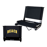 Stadium Chair Black-Arched Beach