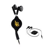 Black Retractable Ear Buds-Interlocking LB