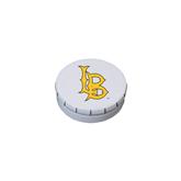 White Round Peppermint Clicker Tin-Interlocking LB