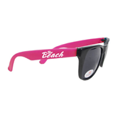 Black/Hot Pink Sunglasses-The Beach