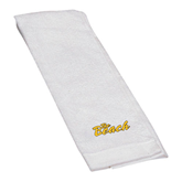 White Golf Towel-The Beach