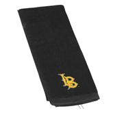 Black Golf Towel-Interlocking LB