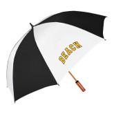 62 Inch Black/White Umbrella-Arched Beach