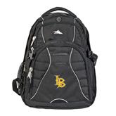 High Sierra Swerve Black Compu Backpack-Interlocking LB
