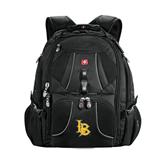 Wenger Swiss Army Mega Black Compu Backpack-Interlocking LB