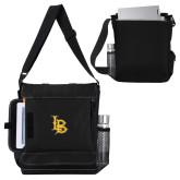 Impact Vertical Black Computer Messenger Bag-Interlocking LB