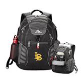 High Sierra Big Wig Black Compu Backpack-Interlocking LB