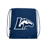 Navy Drawstring Backpack-L Horse