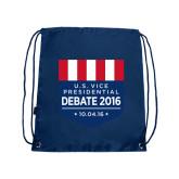 Navy Drawstring Backpack-US Vice Presidental Debate 2016