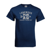 Navy T Shirt-Cross Country Design