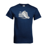 Navy T Shirt-Cross Country Shoe Design