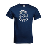 Navy T Shirt-Soccer Ball Design