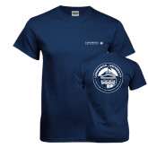 Navy T Shirt-Longwood University Flat