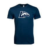 Next Level SoftStyle Navy T Shirt-L Horse