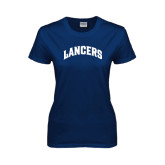 Ladies Navy T Shirt-Arched Lancers