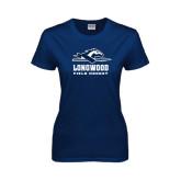 Ladies Navy T Shirt-Field Hockey