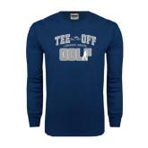 Navy Long Sleeve T Shirt-Tee Off Golf Design