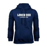 Navy Fleece Hoodie-Longwood Lancers Wordmark