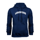Navy Fleece Hoodie-Arched Longwood