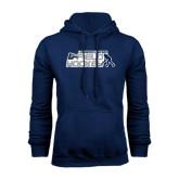 Navy Fleece Hoodie-Field Hockey w/ Player Design