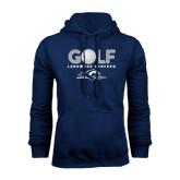 Navy Fleece Hoodie-Golf w/ Golf Ball Design
