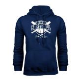 Navy Fleece Hoodie-Softball Bats and Plate Design