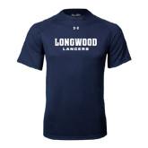 Under Armour Navy Tech Tee-Longwood Lancers Wordmark