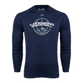 Under Armour Navy Long Sleeve Tech Tee-Arched Basketball Design