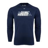 Under Armour Navy Long Sleeve Tech Tee-Field Hockey w/ Player Design
